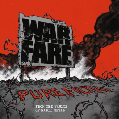 Warfare - Pure Filth: From the Vaults of Rabid Metal LP (red)