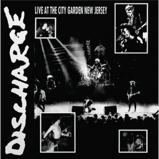Discharge - Live at the City Garden New Jersey LP (clear vinyl)