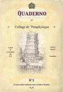 Copertina del numero uno del Quaderno - Collage de 'Pataphysique