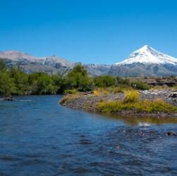 Volcán Lanín en Junín de los Andes