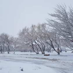 Gobernador Gregores invierno, nieve.