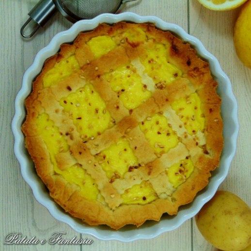 Crostata con frolla di patate alla crema di limoni