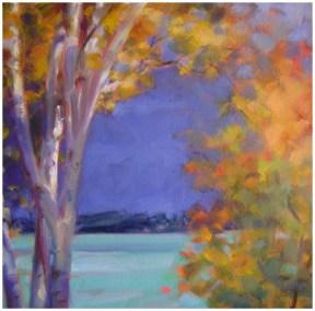 """Autumn Window""  Oil 14"" X 14"" Bella Galleria"