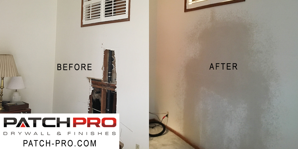 Drywall repair Beaverton - Before and After Fix