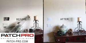Drywall fix - Before and after