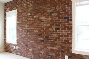Brick feature wall in Portland Oregon
