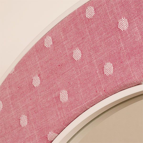 Close up of the Ella Pink Fabric with Spots