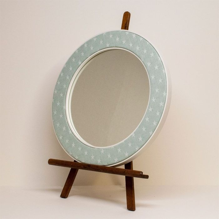 The Ella Seafoam Mirror on an Easel with Stars