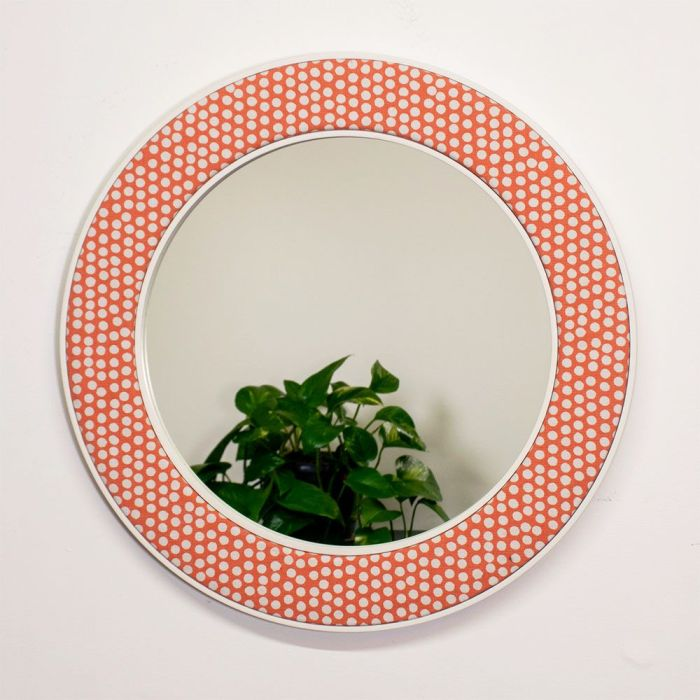 Photo of the Maggie Spotty Mirror in Orange