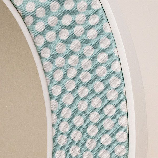 Close up of the Maggie Spotty Fabric in Seafoam
