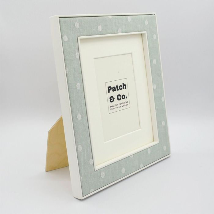 The Ella Photo Frame in Seafoam with Spots