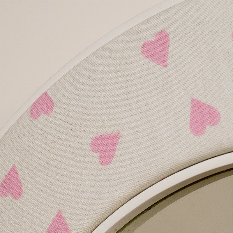 Close up photo of the Heart Fabric
