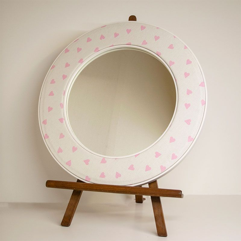 Heart Round Mirror on an Easel