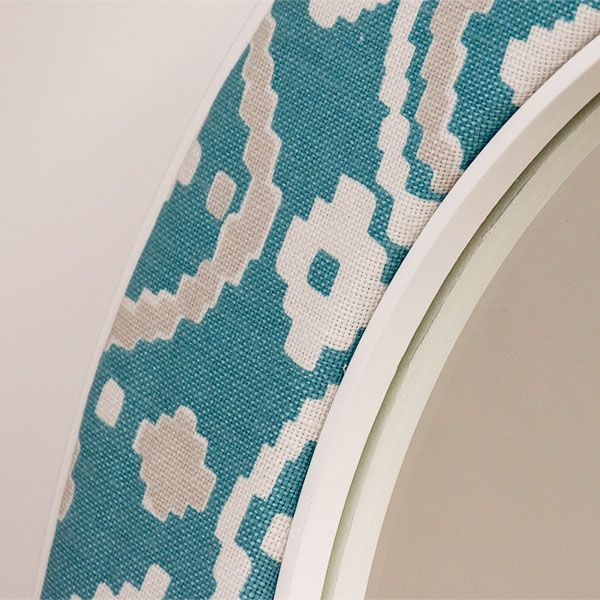 The Patch Mirror Fabric in Close Up from the Romo Collection