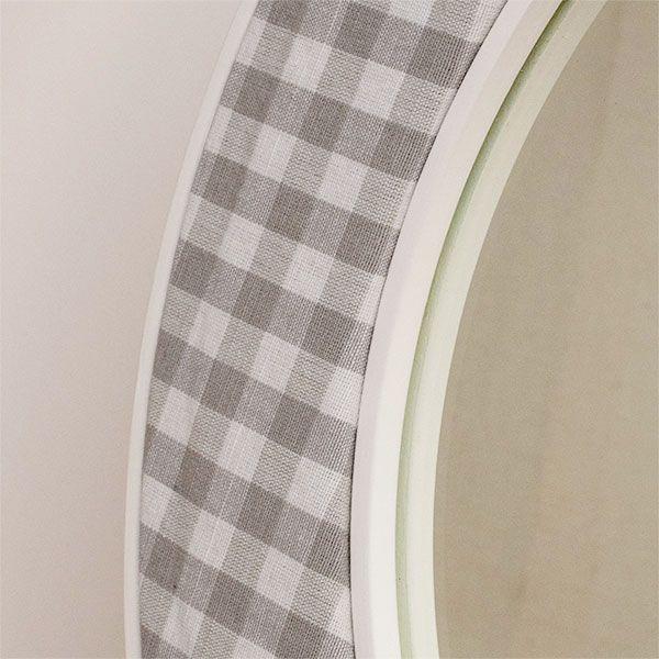The Stuart Mirror Fabric Close Up