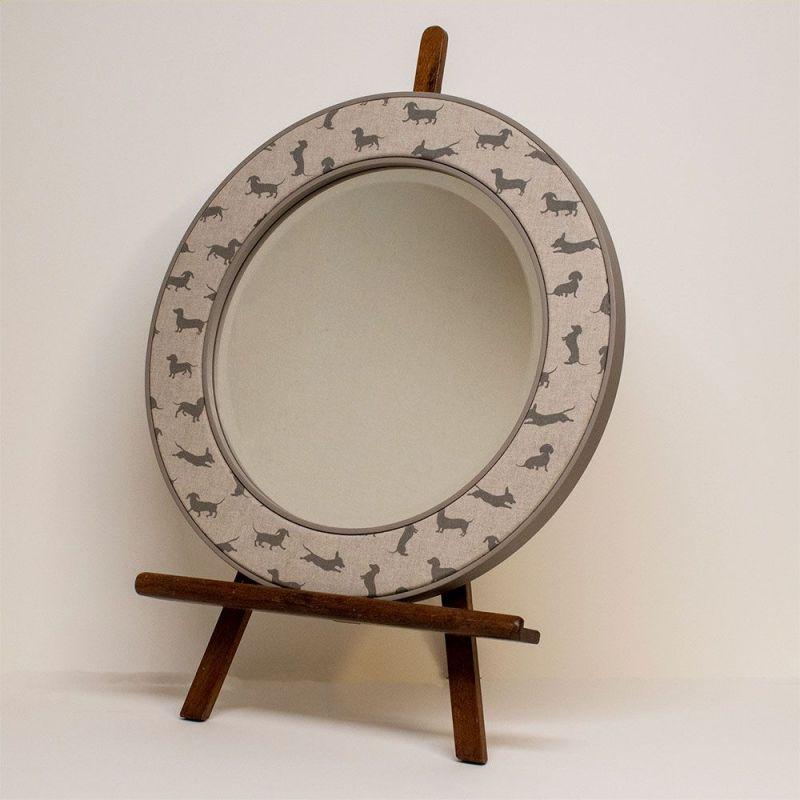 Angus Dachshund Mirror on Easel