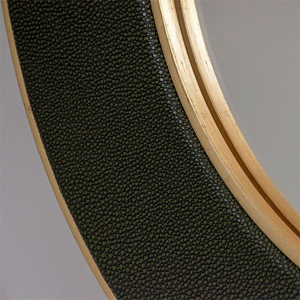 Detail shot of the Otis Faux Shagreen Fabric