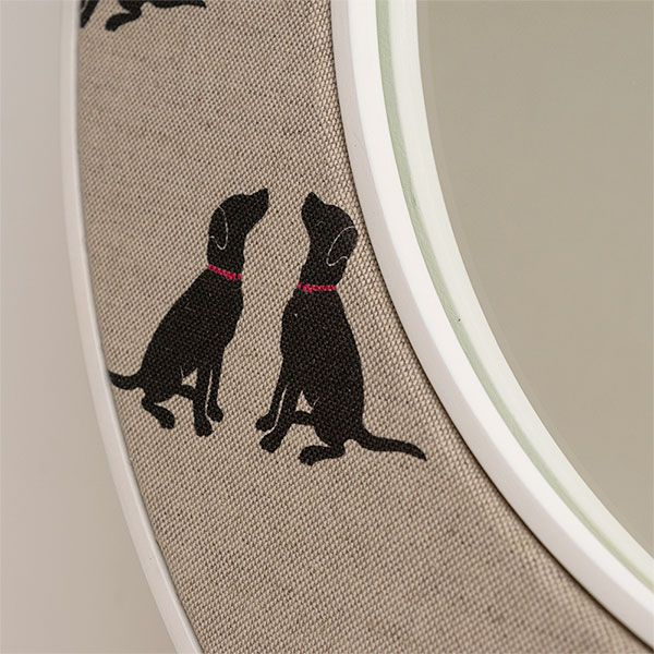 Close up of Labrador Mirror - Dog fabric