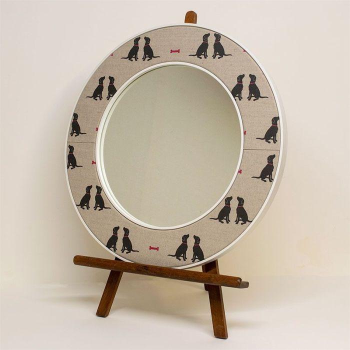 Charlie Labrador Mirror on an Easel - Dog Fabric