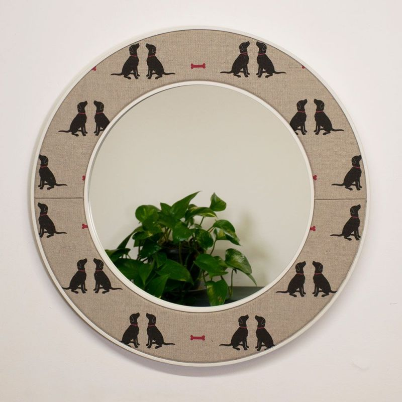 Charlie Labrador Mirror with Reflection