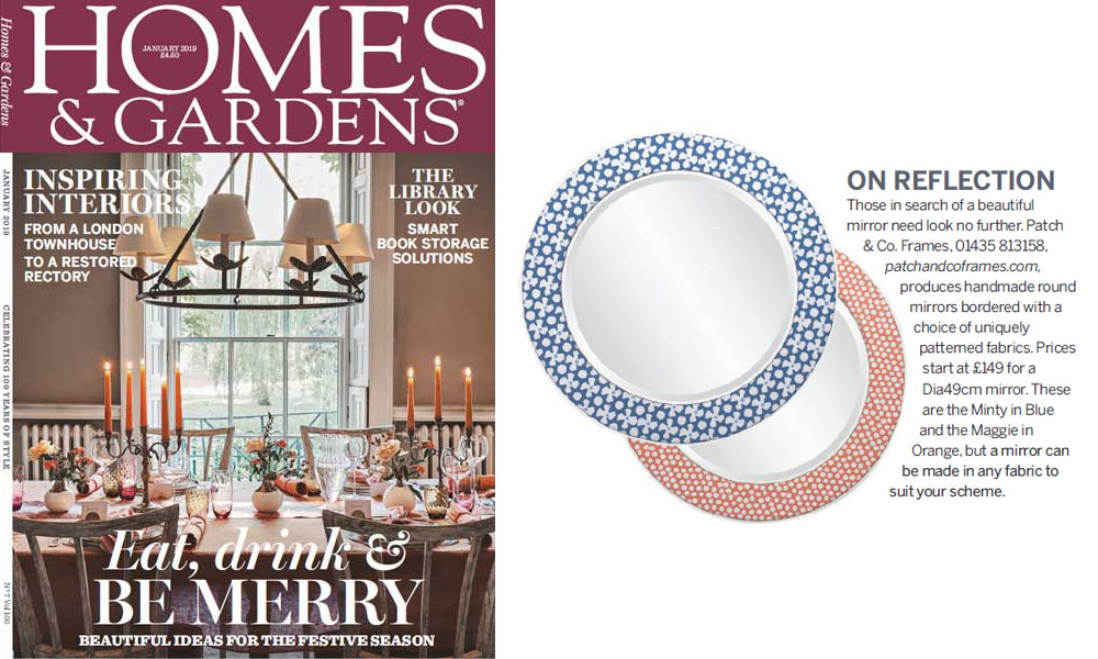 Patch & Co. Feature in the Homes & Gardens January 2019