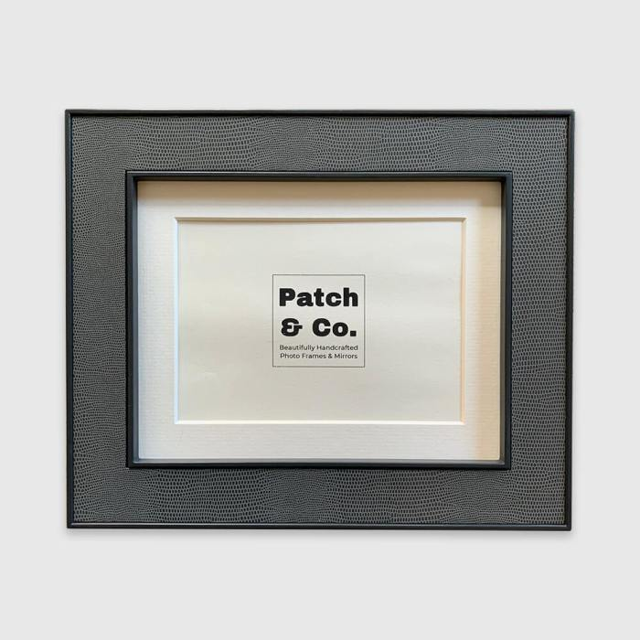 Lamella 9x7 Photo Frame in Dark Grey