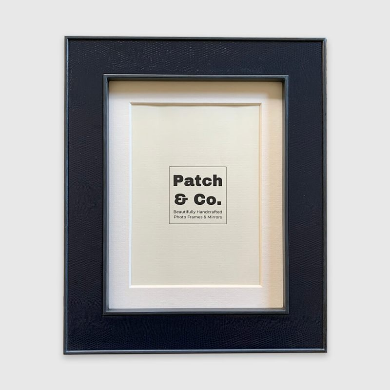 Lamella Navy 9 x 7 Photo Frame