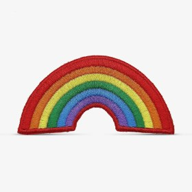Patch Bordado arco-íris, com termocolante 8,7x4,1cm da PATCH GANG
