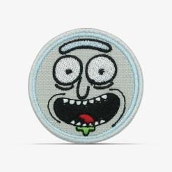patch bordado adesivo termocolante customização Rick morty sorrindo