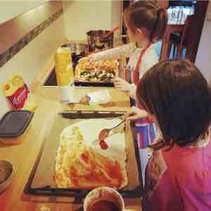 Raclette Pizza machen