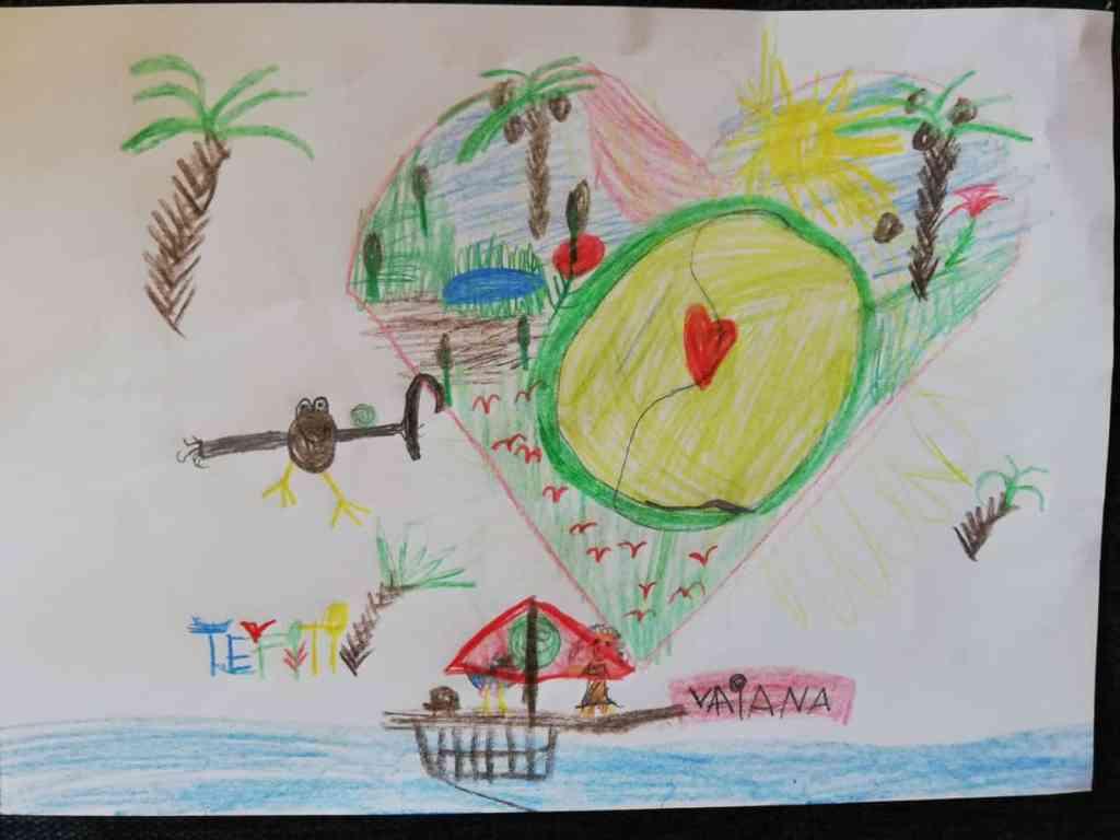 Fernsehen macht kreativ. Kinderzeichnung zum Disney Film Vaiana
