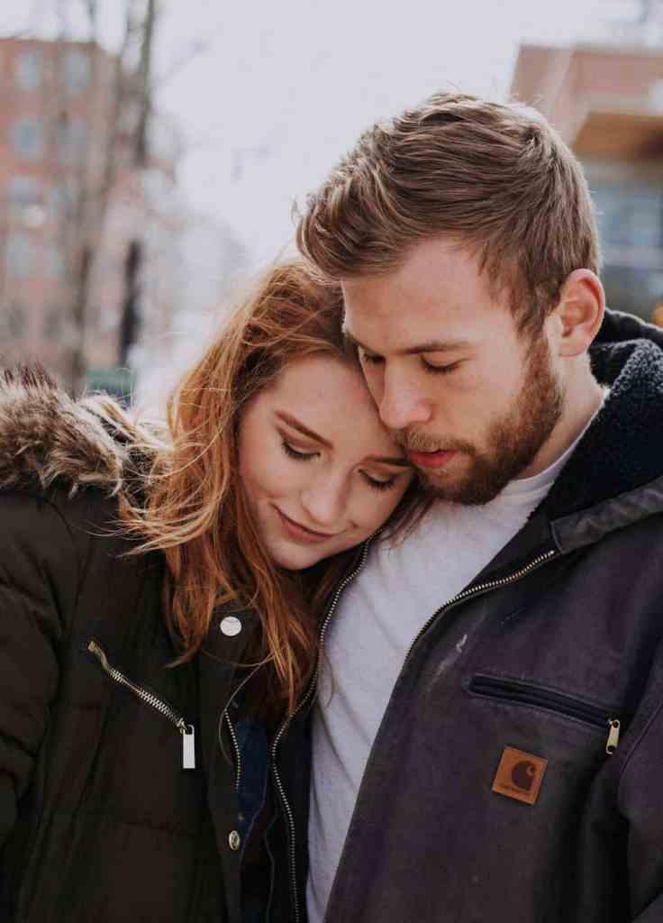Sprache der Liebe Zärtlichkeit Paar