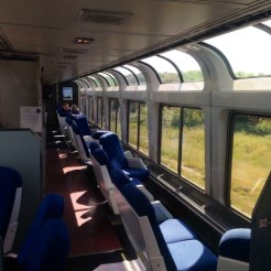 Train observation car.
