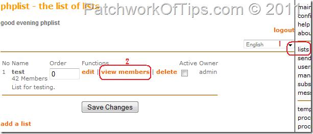 Delete PHPList Users