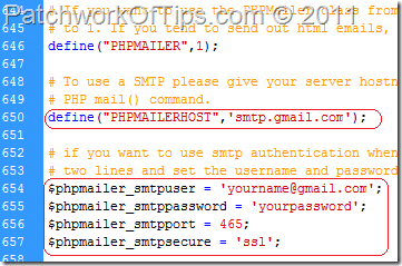 Configure PHPMailer SMTP Settings
