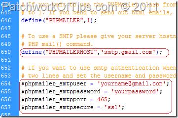 Configure PHPMailer SMTP Settings