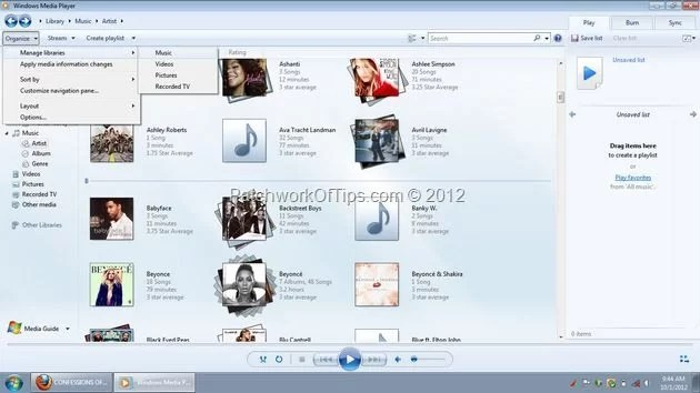 Windows Media Player Library Update