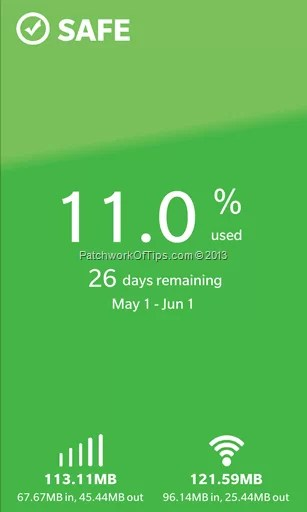 Data Check Pro reading for the month of May2013