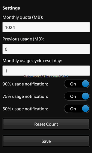 How To Configure Data Check Pro For BlackBerry Z10