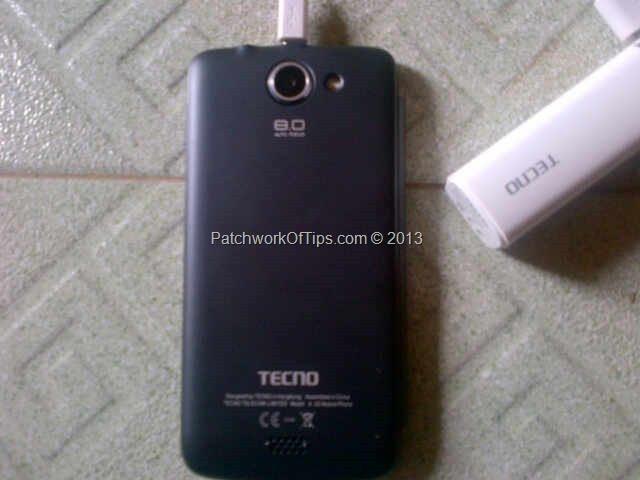Tecno F7 back