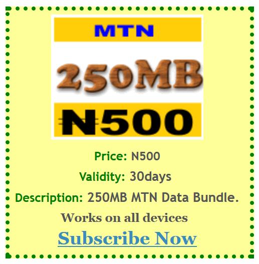 Cheapest MTN Nigeria Data Plan Offer
