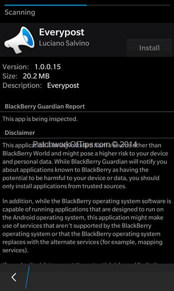 BlackBerry Guardian Scan