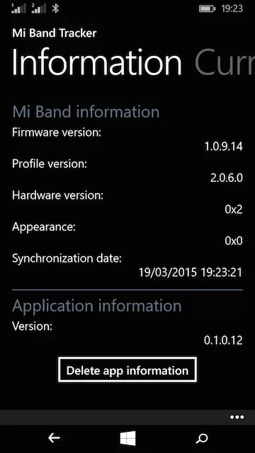 Mi Band For Windows Phone