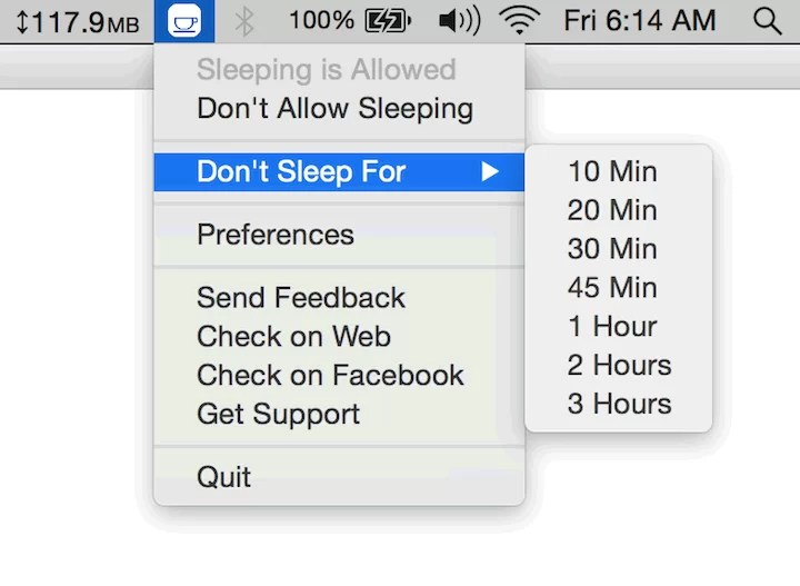 Stop Mac OS From Going To Sleep