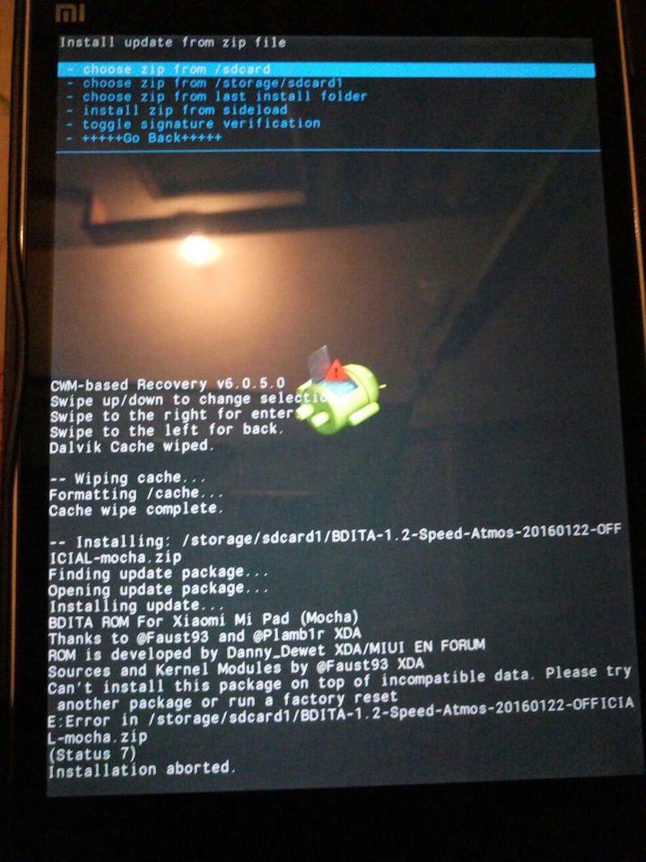 BDITA ROM Update Fails