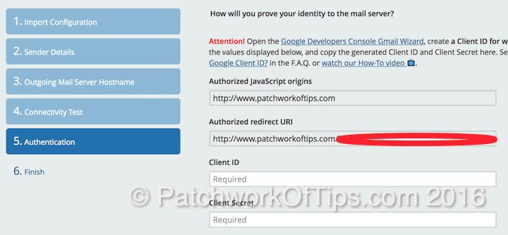Postman SMTP Setup Authentication