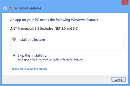 NET Framework Error Message