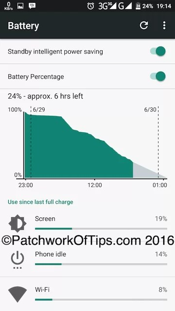 Oukitel K6000 Pro Battery Life Test - 3G Only