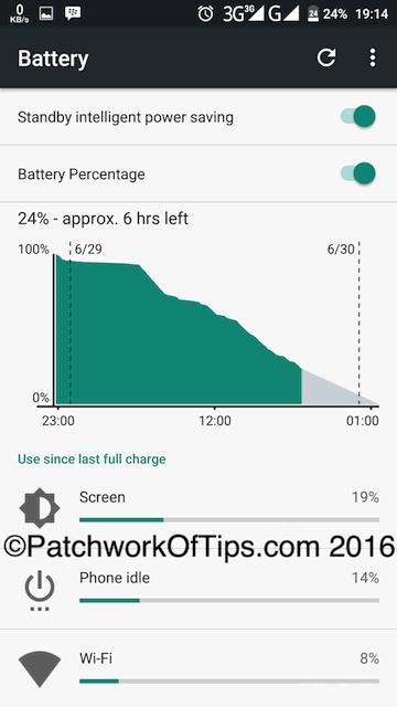 Oukitel K6000 Pro Battery Life Test - 3G Only