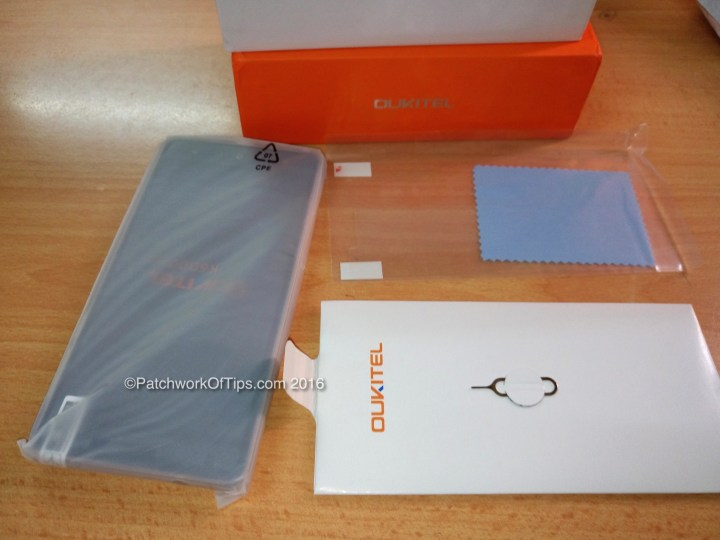 Oukitel K6000 Pro, Screen Protector & Pin